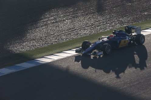 Nasr enjoyed a good opening test. © Sauber F1 Team.