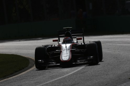 """Button got to race end in Melbourne."" © McLaren-Honda Formula 1 Team."