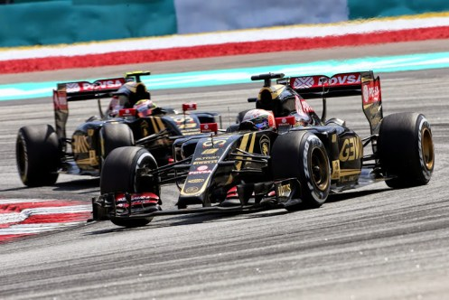 Grosjean led the Lotus charge in Malaysia. © Lotus F1 Team.
