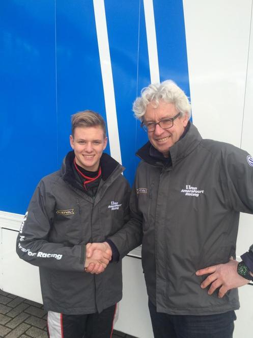 Schumacher Jr will race in German F4 with van Amersfoort. © van Amersfoort Racing.