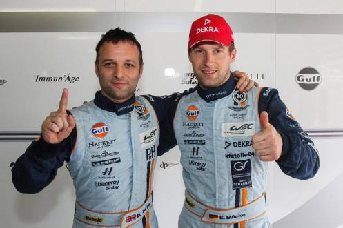 Darren Turner (left) continues into 2015 with his term Aston teammate Stefan Mücke. © Richard Washbrooke.