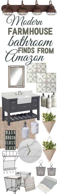 Modern Farmhouse Bathroom Decor Finds From Amazon - The ...