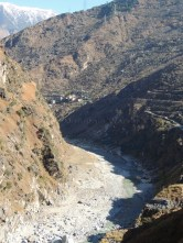 The steep sides are scary even though the Sutlej is not in spate; Photo: Ameen Shaikh