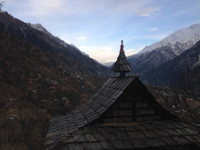 View of the sun setting over Sangla valley (from Kamru village); Photo: sanjay mukherjee