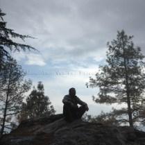 Ameen taking a break to look at the climb ahead towards Shaali Tibba (Peak)