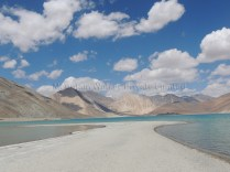 Reaching out into the depths of Pangong Tso; Photo: Abhishek Kaushal