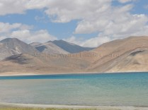 Different hues on the moutains and across Pangong Tso; Photo: Abhishek Kaushal