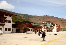 Paro Airport complex. Photo: Kaushik Naik