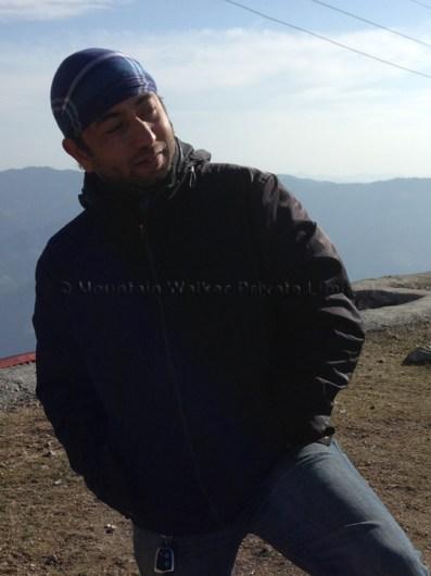 Abhishek atop Shaali Tibba