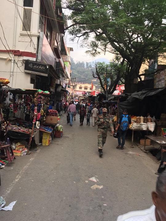 A relatively relaxed stretch of the Uttarkashi market; Photo: Swarjit Samajpati