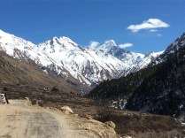 First view of Chitkul village. Photo: sanjay mukherjee