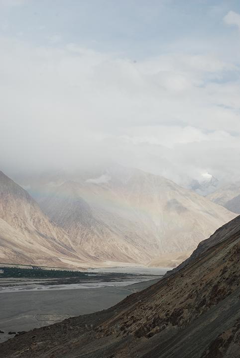 Rainbow spotting in Nubra valley; Photo: Abhishek Kaushal