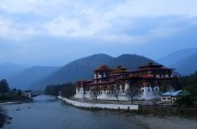 Admiring the setting of the Punakha Dzong amidst the mountains; Photo: Kaushik Naik