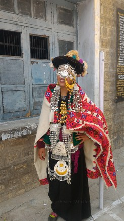 A contestant dressed up as a Kinnauri bride in fill finery and elaborate attire. Photo: Abhinav Kaushal.