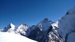 Majestic peaks on the other side of Mount Thelu; Photo: Guneet Puri