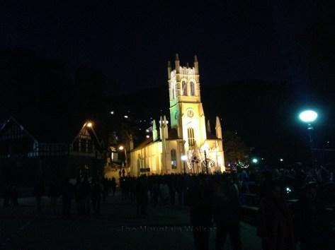 The Christ Church on The Ridge in Shimla all decked up on December 25, 2014; Photo: sanjay mukherjee