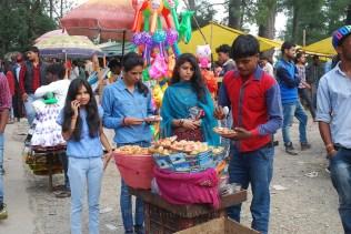 Girls enjoying pani-puri during the Fair; Photo: Abhinav Kaushal