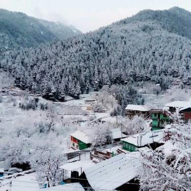 Sangla painted with a light coat of snow; Photo: Kuks Yambur