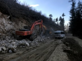 Development in progress on the road ahead of Kotkhai; Photo: Abhinav Kaushal