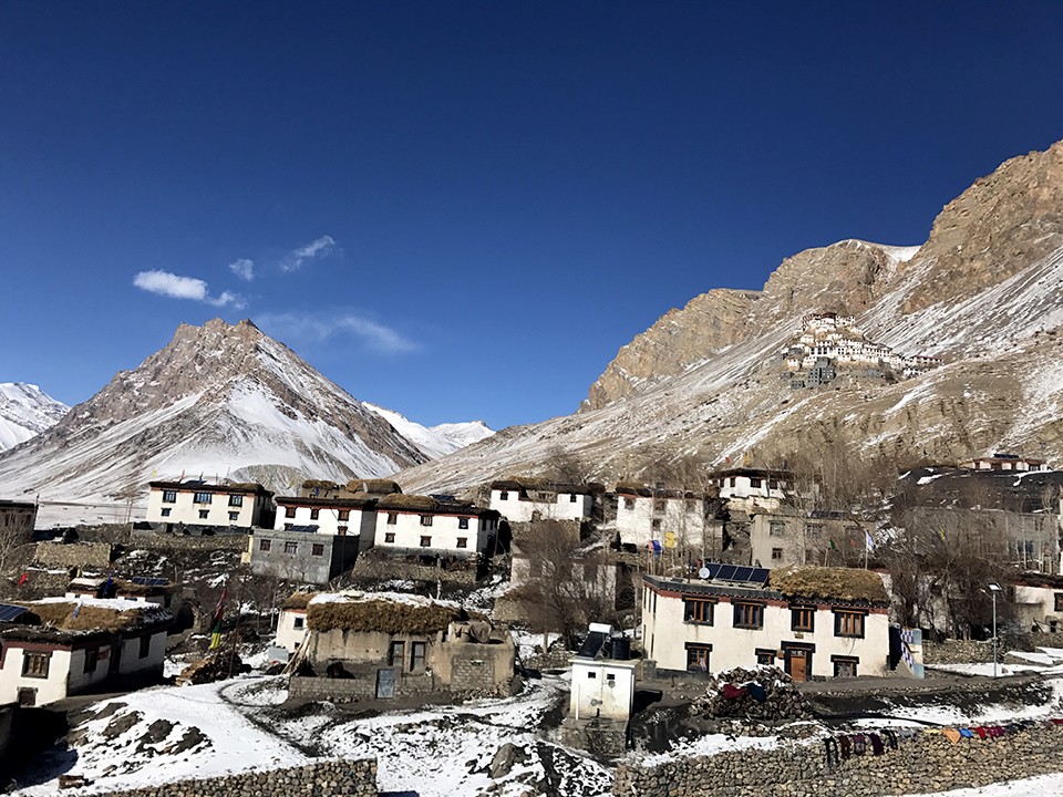 Ki village with Ki Monastery in the background; Photo: Abhinav Kaushal