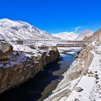 Bridge across Spiti River, towards Rangrik, Lahaul and Spiti, Himachal Pradesh, India.