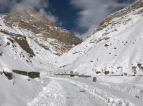 The National Highway 505 after snow is cleared from it.