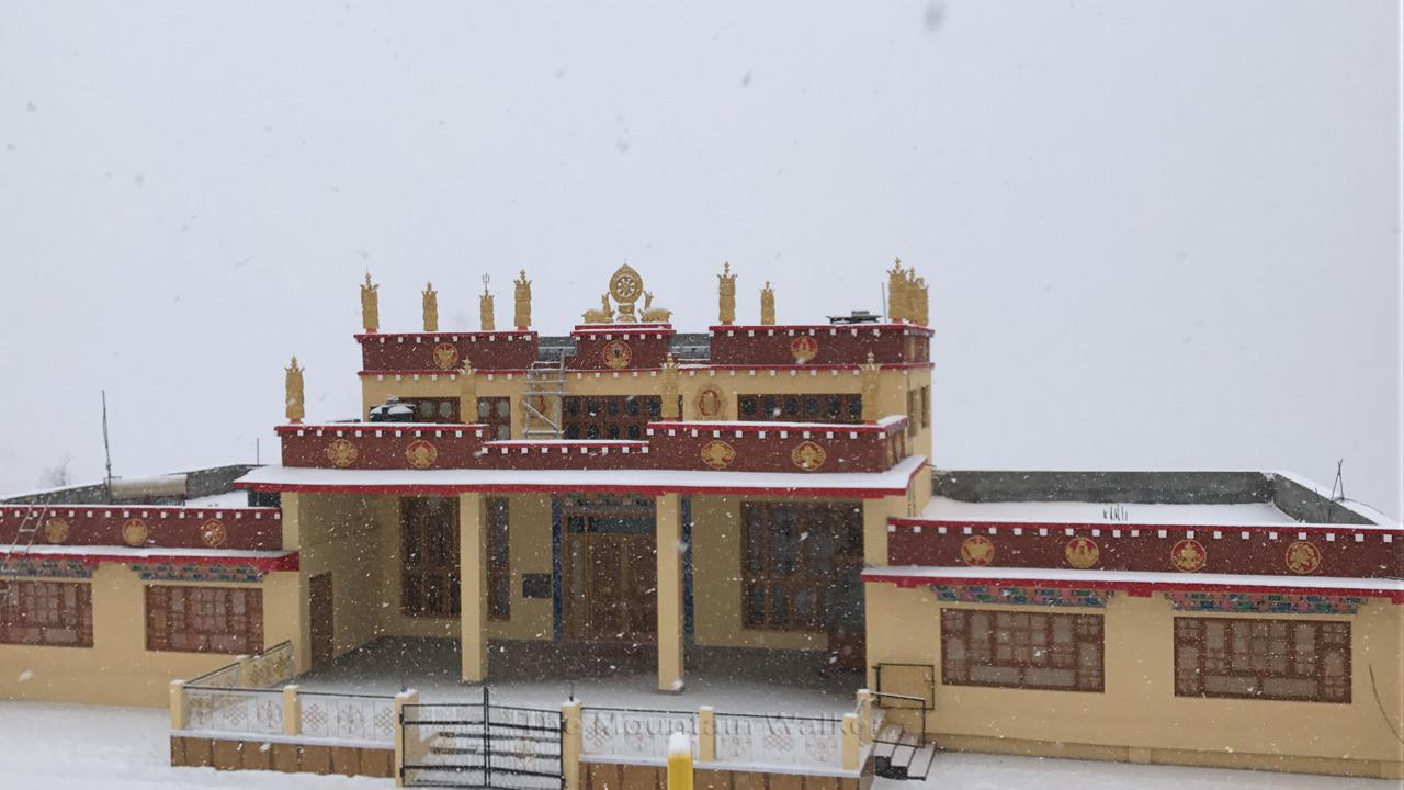 The new Monastery at Dhankar.
