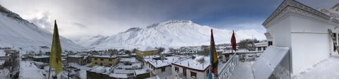 A panoramic view of Kaza from Sakya Home Stay.