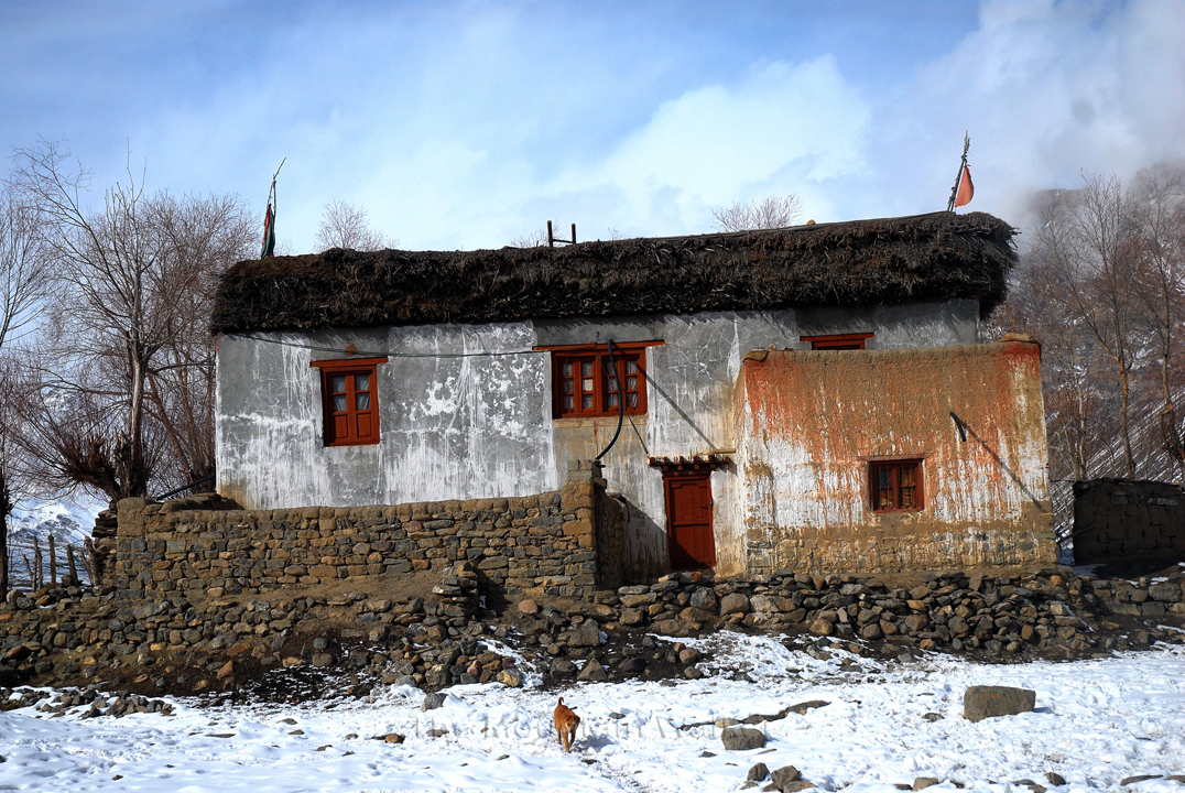 An example of the design of a typical house in Spiti; Photo: Abhinav Kaushal