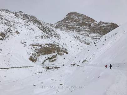 View towards the Shila nala as we proceed ahead on foot.