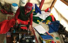 Stitching Prayer Flags for the welfare of all, at Komic Monastery, Spiti; Photo: Ameen Shaikh