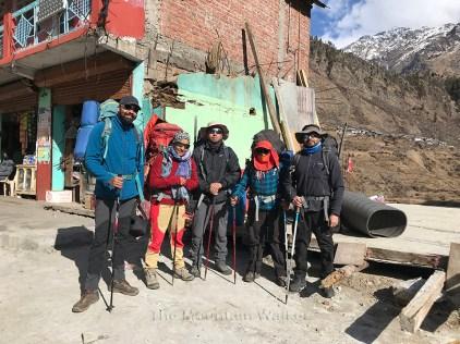 Day 1 - The Team (from left to right): Omkar, Shashi, Abhishek, Guneet and Swarjit; Photo: Deepak Rana