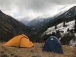 Day 1 - Panchimilia camp site as the weather starts changing; Photo: Swarjit Samajpati