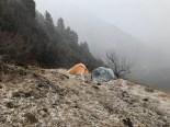 Day 1 - First snowfall of the trek; Photo: Swarjit Samajpati