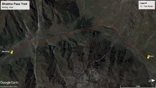Bhabha Pass Trek - Route from Mulling to Kara