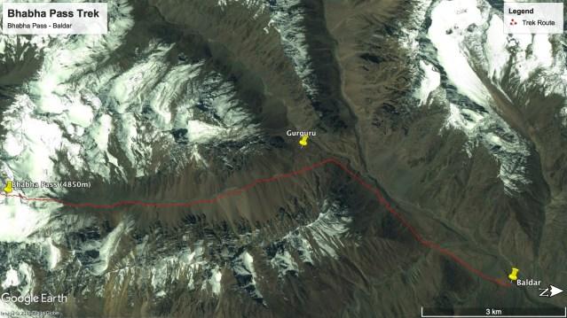 Bhabha Pass Trek - Route from Bhabha Pass to Baldar