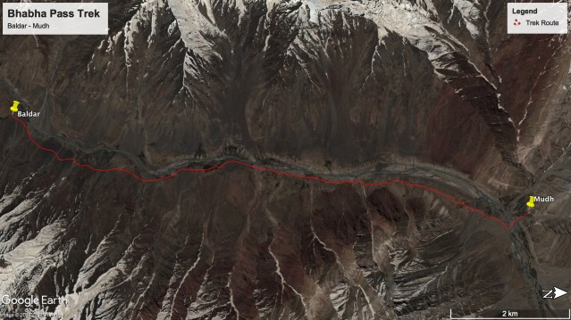 Bhabha Pass Trek - Route from Baldar to Mudh