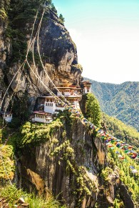 Taktsang Palphug Monastery or Tiger Nest Monastery located on the cliffside of the Upper Paro Valley; Photo: Swarjit Samajpati