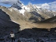 The Mountain Walker enjoying sunrise above Parvati Base Camp during Pin Parvati Pass Trek; Photo: Abhishek Kaushal