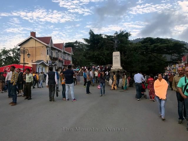 Lala Lajpat Rai's statue at the Scandal Point in Shimla