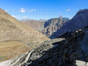 'Rural Chamba Sach Pass', shot at Sach Pass by Abhishek Kaushal, reveals the rugged road and terrain from Sach Pass towards Pangi Valley in Chamba district.