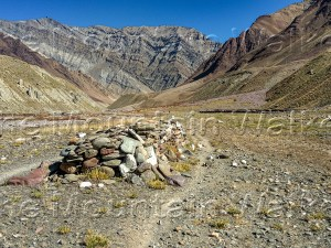 'Trek Trail Ancient Customs' by Ameen Shaikh illuminates the custom of walking to the left of a pile of Mani stones (the stones should be on your right).