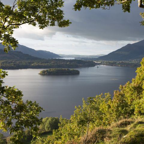 Derwent Water & Portinscale behind