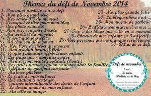 liste défi novembre