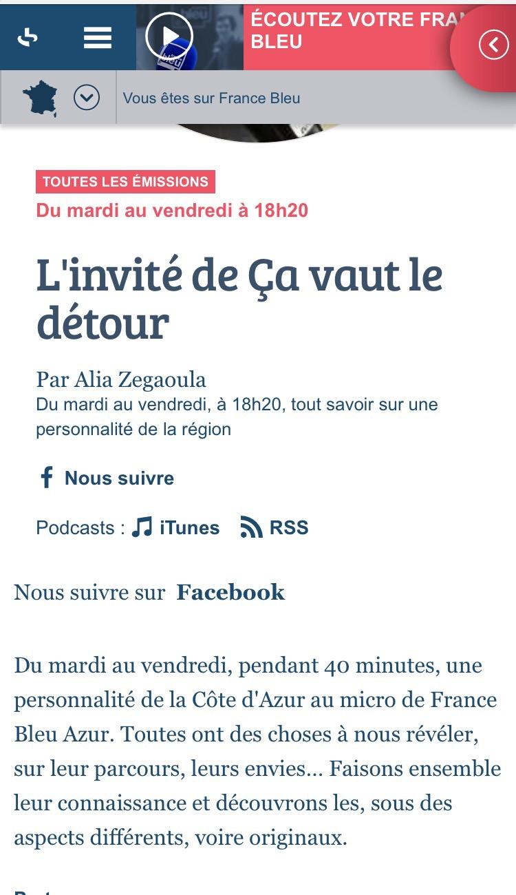 Ça vaut le détour… TheMouse sur France Bleu Azur, mardi 5 avril à 18h20