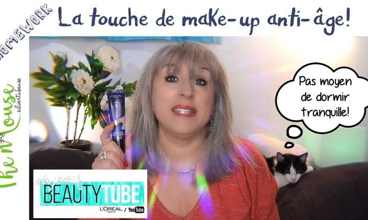 Une touche de make-up en anti-âge (objectif beautytube)
