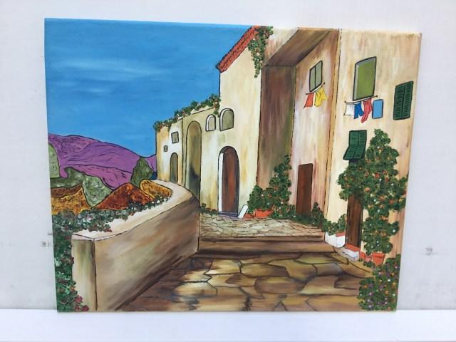 Tableau, peinture, huile, acrylique, toile