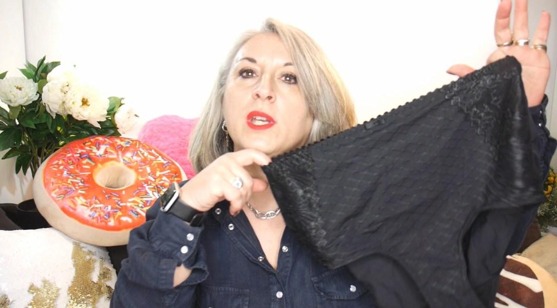Idée look, Fashion, 50 ans, quinqua, mode, tendances, Teambeautesmajuscules, look, mode Quinqua, YouTube, lidl, esmara, haul mode, chemise en jean, pull, gaine, Cristina cordela, reines du shopping, caleçon,