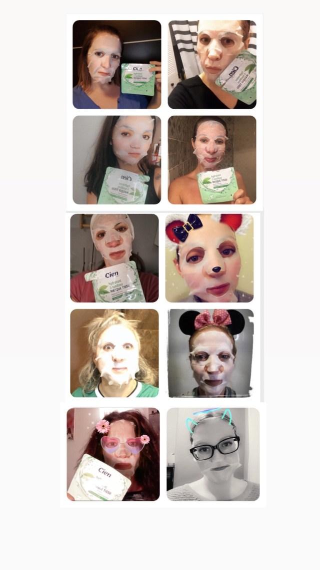 Blogueuse du sud, cien, quinqua, hydrate, lidl, mask challenge, masque pour le visage, silverhair, une citadine dans un bled paumé, vert, mask, hydratant et tonifiant, masque,
