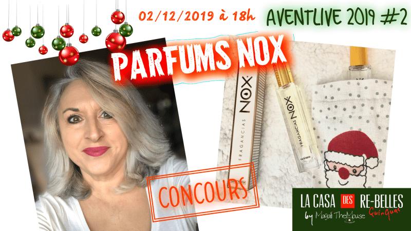 Les parfums NOX: petits prix pour cadeaux de noël plaisir